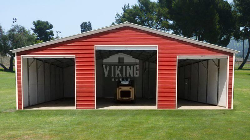 42x35x12 Continuous Roof Metal Barn