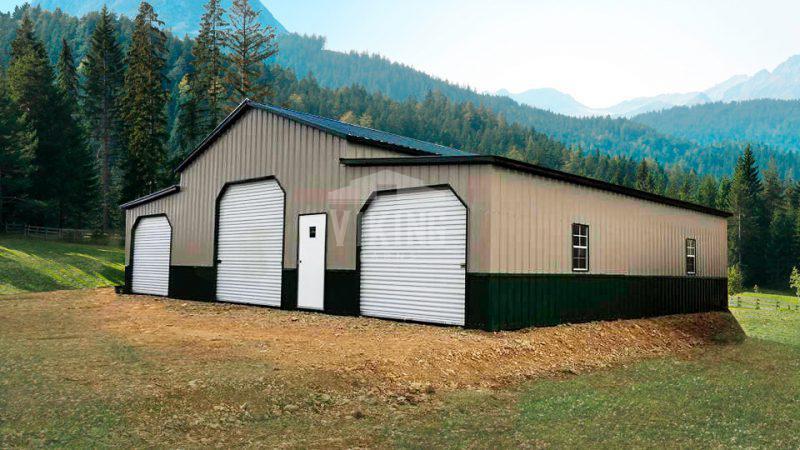 44x30x12 Center Raised Aisle Barn