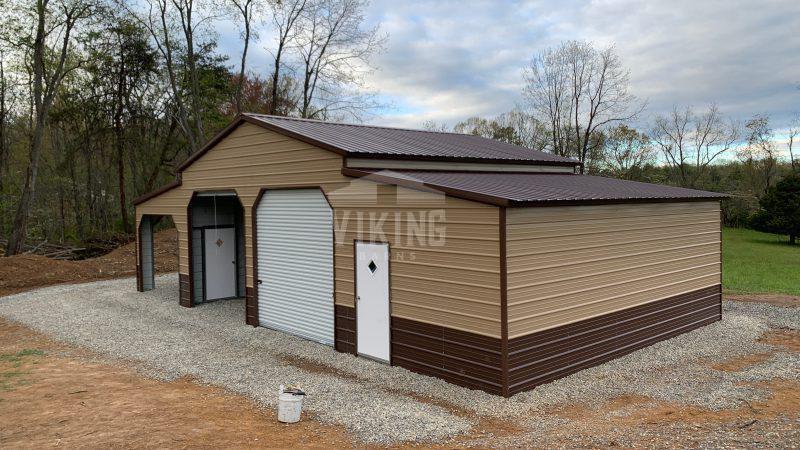 48x25x12 Two Tone Carolina Barn
