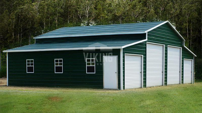 48x31x12 Center Aisle Metal Barn