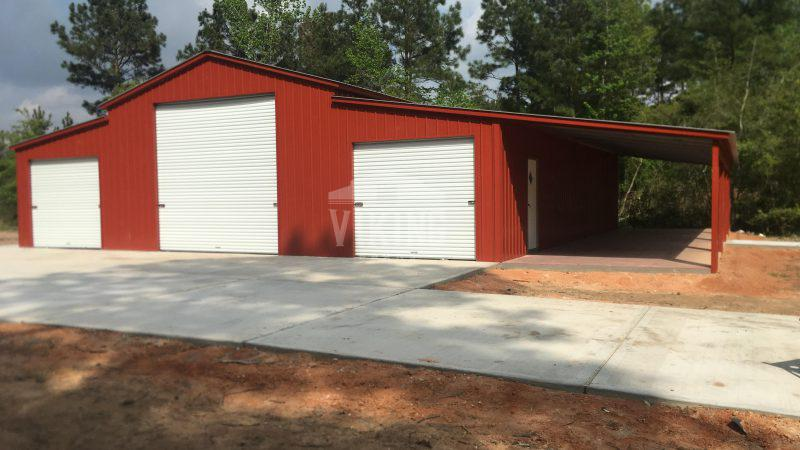 58x50x12 Red Barn Building